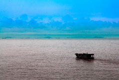 Kinesiskt skräp för sydkinesiska havet royaltyfri foto