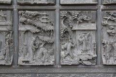 Kinesiskt snida för sten Arkivbilder