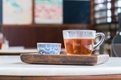 Kinesiskt te, kinesisk tetid Fotografering för Bildbyråer