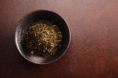 Kinesiskt te med bakgrund Royaltyfria Foton