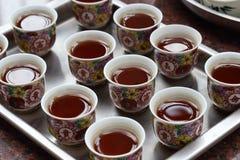 Kinesiskt te på templet Royaltyfri Bild