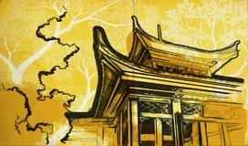 kinesiskt tempel Arkivfoton