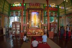 Kinesiskt tempel i (inomhus) Thailand, Arkivfoto