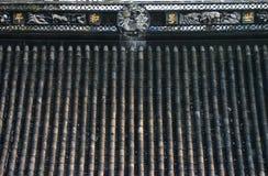 Kinesiskt tempeltak Arkivfoto