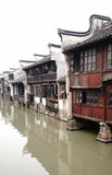 kinesiskt townvatten Arkivfoto