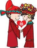 kinesiskt traditionellt bröllop Arkivfoton