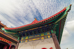 Kinesiskt traditionellt konstruktionstak Arkivfoto
