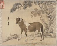 Kinesiskt traditionellt m?la djur arkivfoto