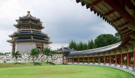 kinesiskt traditionellt pagodatempel Arkivfoto