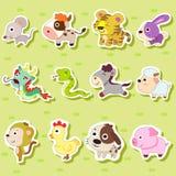 Kinesiskt Zodiacdjur stock illustrationer