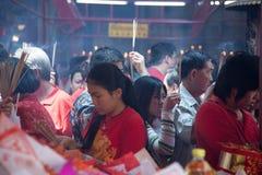 Kineskvarter Bangkok, under det kinesiska nya året Arkivbilder