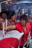 Kineskvarter Bangkok, under det kinesiska nya året Fotografering för Bildbyråer