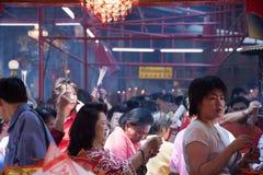 Kineskvarter Bangkok, under det kinesiska nya året Arkivbild