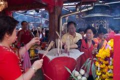 Kineskvarter Bangkok, under det kinesiska nya året Royaltyfri Fotografi