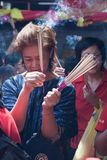Kineskvarter Bangkok, under det kinesiska nya året Royaltyfria Foton