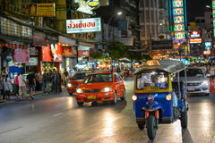 Kineskvarter i Bangkok - Thailand Arkivfoton