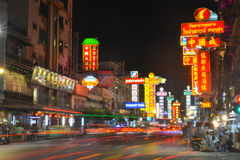 Kineskvarter i Bangkok - Thailand Royaltyfri Fotografi