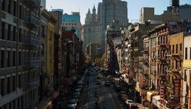 Kineskvarter i New York City Arkivfoto