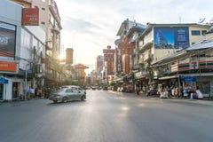 Kineskvarter i Thailand Royaltyfria Bilder