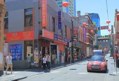 Kineskvarter Melbourne Australien Arkivbild