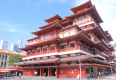 Kineskvarter Singapore för tempel för Buddhatandrelik Arkivfoto