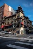 Kineskvarterhus i San Francisco arkivfoto