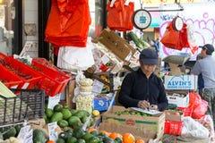 Kineskvartermarknad i New York City royaltyfri foto