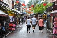 Kineskvartermarknad i Singapore Arkivfoto