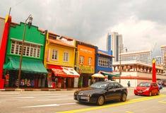 Kineskvarterområde i Singapore Arkivfoton