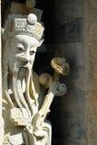 Kinesskulpturer i tempel royaltyfria bilder