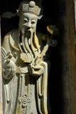 Kinesskulpturer i tempel royaltyfri bild