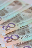 KinesYuan sedlar (renminbi) för pengar och affärsconce Royaltyfria Foton