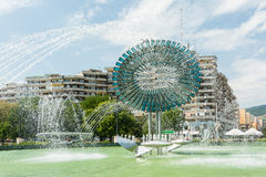 Kinetic Fountain Of Alba Iulia City Royalty Free Stock Images