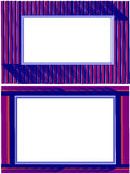 Kinetic photo frames. Kinetic picture frames ,  illustration, symmetrical lines or stripes Stock Photography