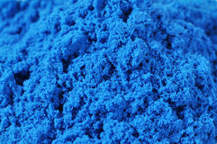 Kinetic sand background. An abstract blue sand background Royalty Free Stock Photos