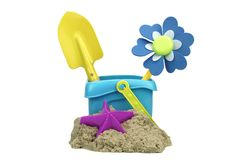 Kinetic Sand With Child Toys For Indoor Children Creativity Game Stock Photo