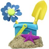 Kinetic Sand With Child Toys For Indoor Children Creativity Game Royalty Free Stock Photo