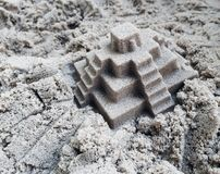 Kinetic sand for children ideal for playing in the yard. Creativity texture stock photo