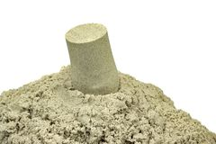 Kinetic Sand For Children Indoor Table Game And Creativity Stock Photos