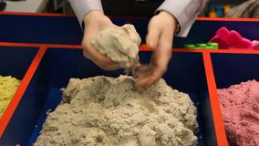 Kinetic sand stock footage