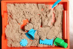 Kinetic sand play baby Stock Images