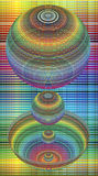 Kinetic spheres in rainbow colors. Dynamic illusion for poster or wallpaper Royalty Free Stock Image