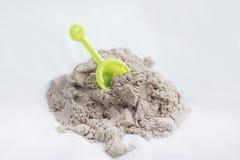 Kinetisch zand en speelgoed Royalty-vrije Stock Afbeelding