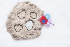Kinetisch zand en speelgoed Royalty-vrije Stock Foto