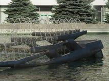 Kinetische fontein, Drobeta Turnu Severin Stock Afbeeldingen
