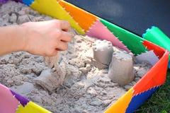 Kinetisk sand royaltyfria foton