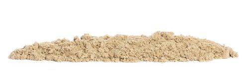 Kinetisk sand i en högnärbild för barnkreativitet och inomhus eller den utomhus- leken som isoleras på vit bakgrund, panorama Arkivfoton