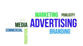 Kinetisk typografi - advertizing stock illustrationer