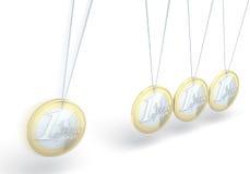 Kinetyczna euro monety zabawka Zdjęcia Royalty Free