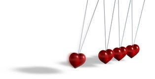Kinetyczna zabawka z serce kształtującymi przedmiotami ilustracji